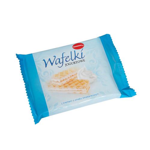 Wafle z kremem o smaku jogurtowo-śmietankowym