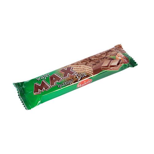 Max - wafelek z kremem orzechowym w czekoladzie mlecznej