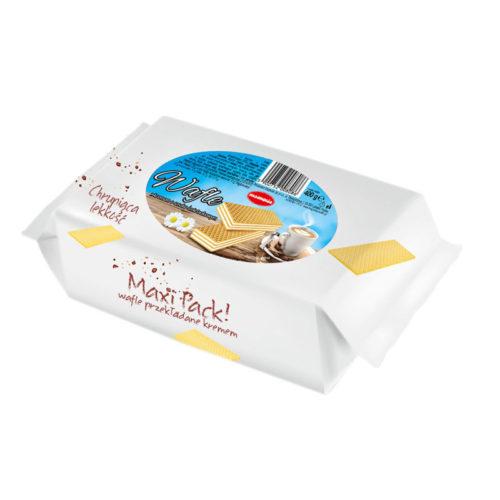 Maxi Pack - wafle z kremem o smaku śmietankowym