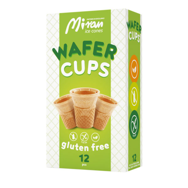 Wafer cups gluten free