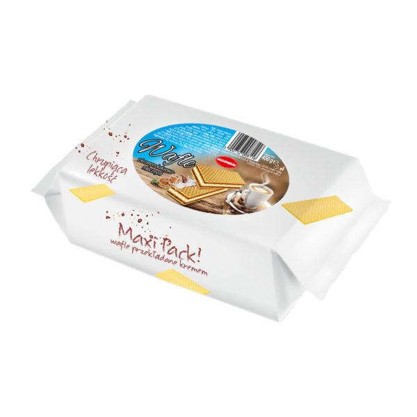 Maxi Pack - wafle o smaku śmietankowo-kakaowym