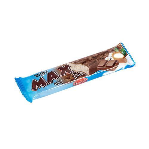 Max - wafelek z kremem mlecznym w  czekoladzie mlecznej