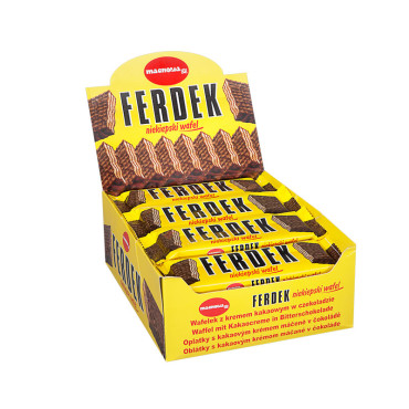 Ferdek - wafel z kremem kakaowym w czekoladzie