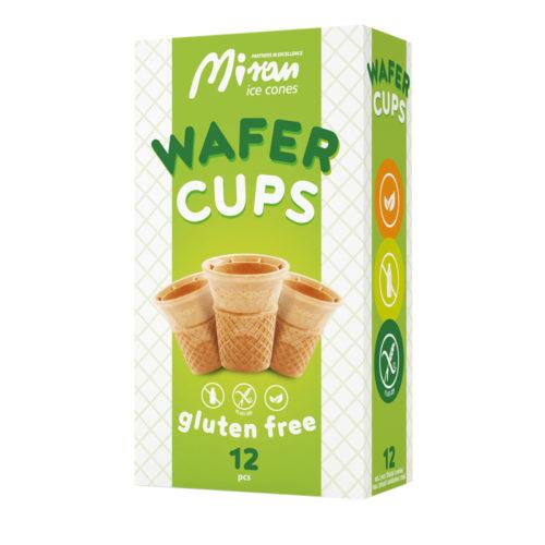 Wafer cups gluten free